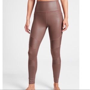 Athleta Inclination Moto Shimmer Tight